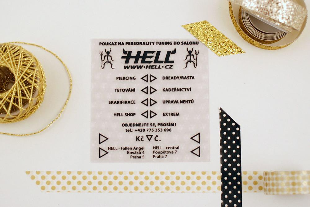 Hell.cz Hell dárkový poukaz na tetování voucher
