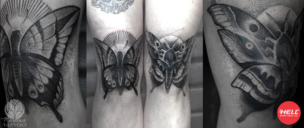 hell.cz dotwork tattoo bw nayana