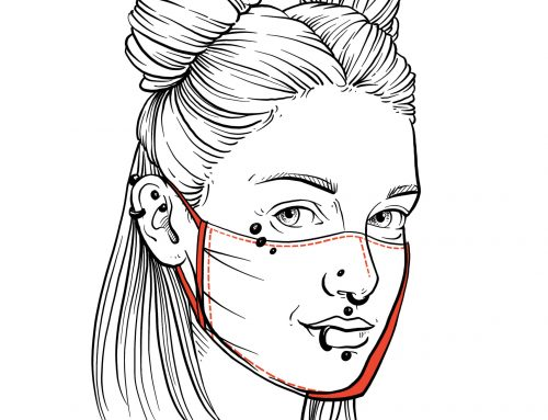 Piercing a respirátory